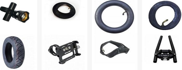 Piese si accesorii: far led, cauciucuri offroad, baterie, janta, acumulator...